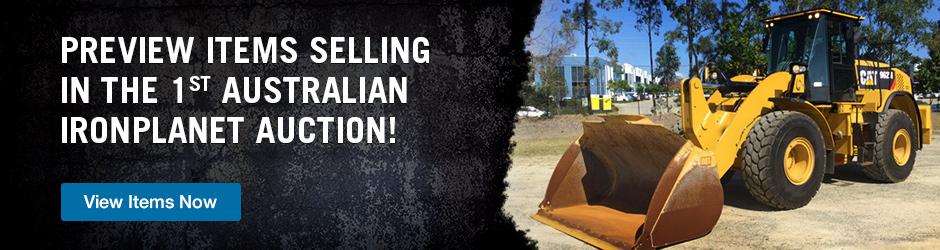 IronPlanet Geelong online auction