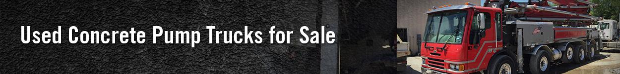 used concrete pump trucks for sale